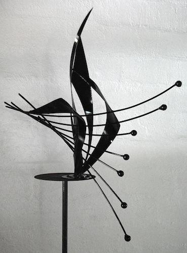 Abstract Black Metal Sculpture Maquette
