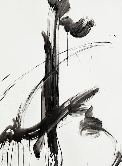 black and white abstract ink painting 55 1contemporary. Black Bedroom Furniture Sets. Home Design Ideas