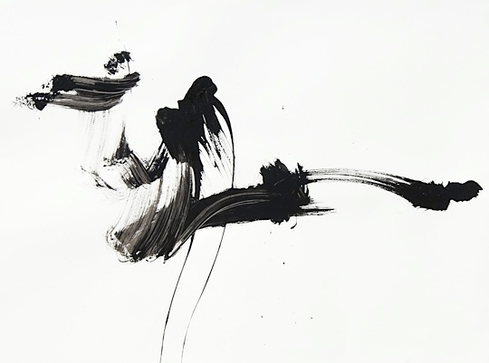 Black And White Abstract Ink Painting Brenda Heim